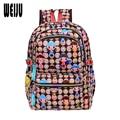 2016 nueva impresión de la historieta del bolso de escuela mochilas escolares moda para adolescentes de Nylon ocasional bolsos de escuela del estudiante mochila