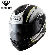 Yohe YH-FF-966A Лидер продаж шлем мото мотоцикл Capacete шлем двойной козырек унисекс мотоцикл полный шлем