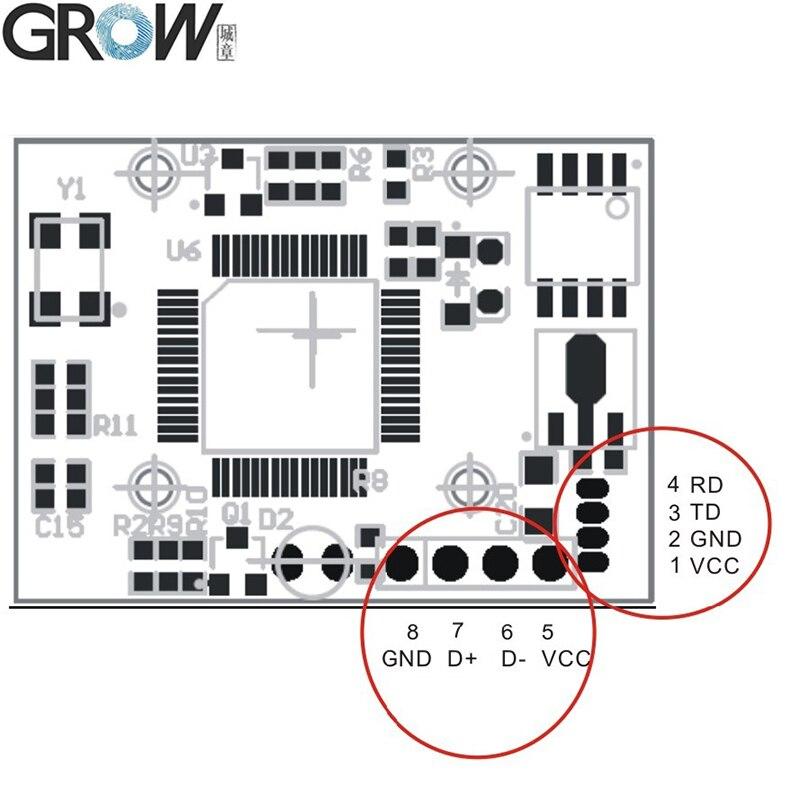 US $17 0 |GROW R305 Manufacture Optical Biometric Fingerprint Access  Control Sensor Module Scanner With 980 Storage Capacity-in Fingerprint