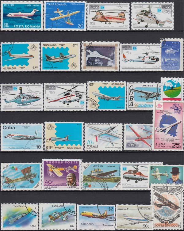 Image 3 - Plane , 250 Pieces / Lot No repeat  , Unsed Postage Stamps With Post Mark From World Wide  For Collecting-in Stamps from Home & Garden