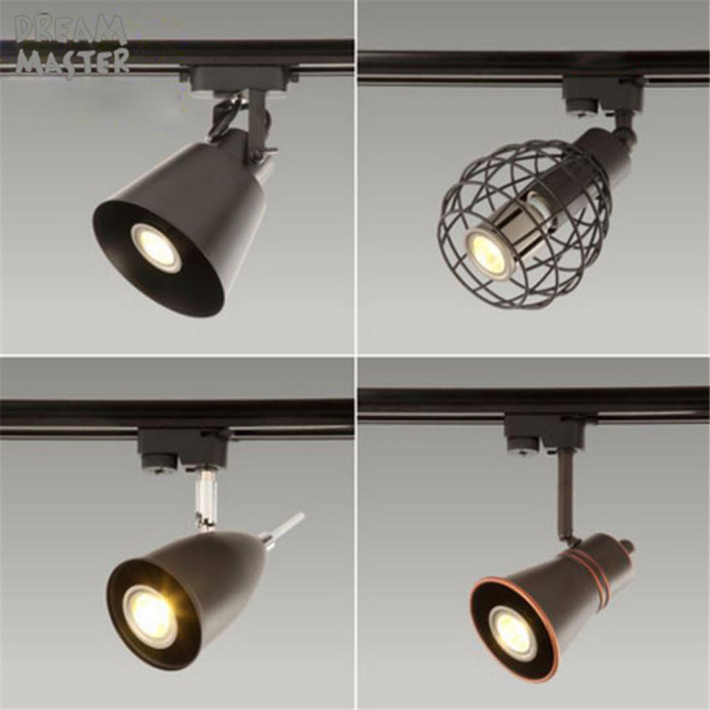 Black Rustic Led Track Light Cob 10w Ceiling Rail Lights Spotlight For Kitchen Fixed Clothing Shoes S Lighting