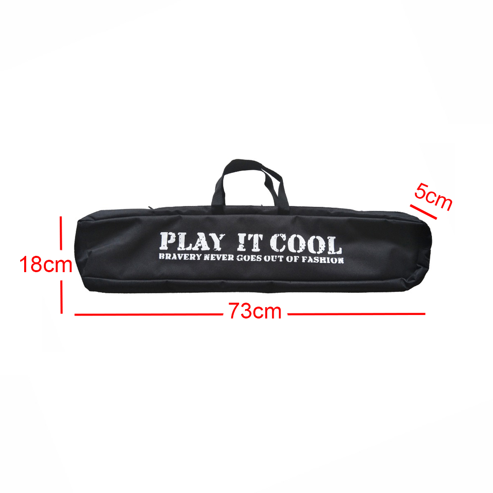 1pc 73*18*5 cm Archery Recurve Bow Bag in Black Canvas Easy Carrying Bow Case for Archery Hunting Shooting