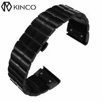 KINCO Replacement Wristband Watch Straps Stainless Steel Solid Wire Mesh Interlock Clasp for Garmin Fenix 5X/3/3HR Smart Watch
