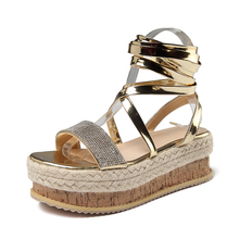 2019 Gladiator shoes Spring Lace Up Wedges Shoes For Women Summer Sandalias Roman Sandals High Heels Open Toe Zapato Mujer цены онлайн