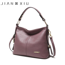 JIANXIU Brand Genuine Leather Handbag Fashion Luxury Handbags Women Bags Designer Shoulder Bag 2018 Ladies Soft Cowhide Big Tote