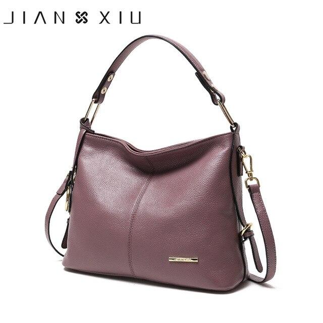 2ca4f2b4ab JIANXIU Brand Genuine Leather Handbag Fashion Luxury Handbags Women Bags  Designer Shoulder Bag 2018 Ladies Soft Cowhide Big Tote-in Shoulder Bags  from ...