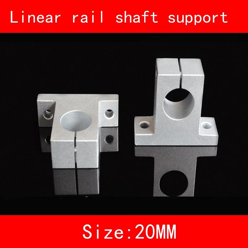Aluminium linear rail shaft 16mm 20mm SK16 SH16A SK20 SH20A Linear Rail Shaft Support XYZ Table CNC part sk16 sh16a 16mm linear rail shaft support xyz table cnc 2pcs lot
