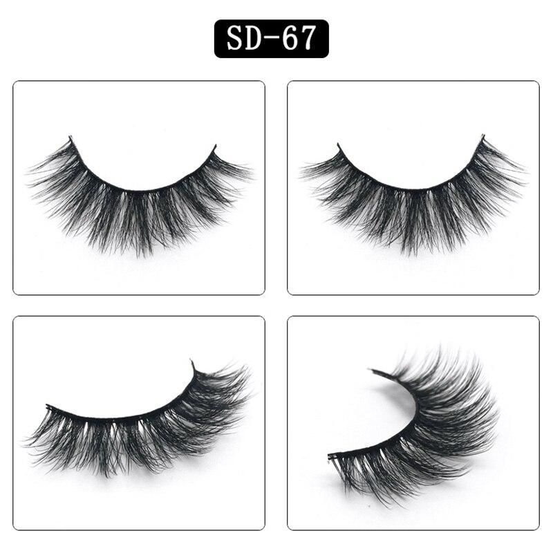 1 pair packaging 3D mink fake eyelashes false eyelashes natural makeup eyelash extension long Thick Cross Eyelashes Eye Lashes