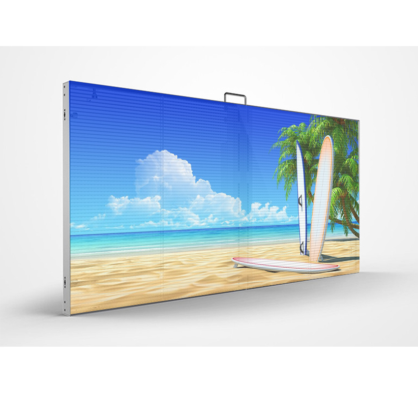 P3.9 - 7.8 Led Window Mesh Display Indoor Led Transparent Screen For Shop Advertising
