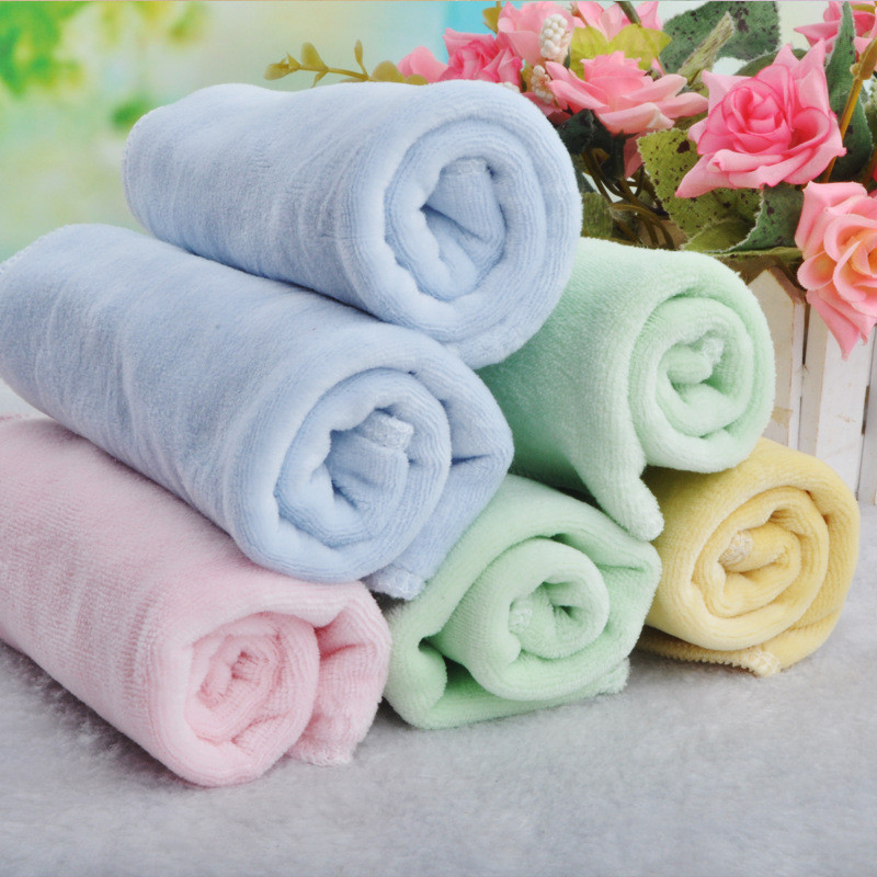 2016 Top Fashion Time-limited Solid Hand Towel Baby Bath Toallas 2pcs/lot Velvet Handkerchief Baby Towel Face More C-sp001-2