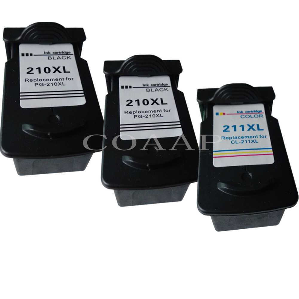 PG 210 CL 211 cartucho de tinta Recarregado para CANON PG210 CL211 XL para Pixma MX320 MX330 MX340 MX350 MX410 MX420 impressora
