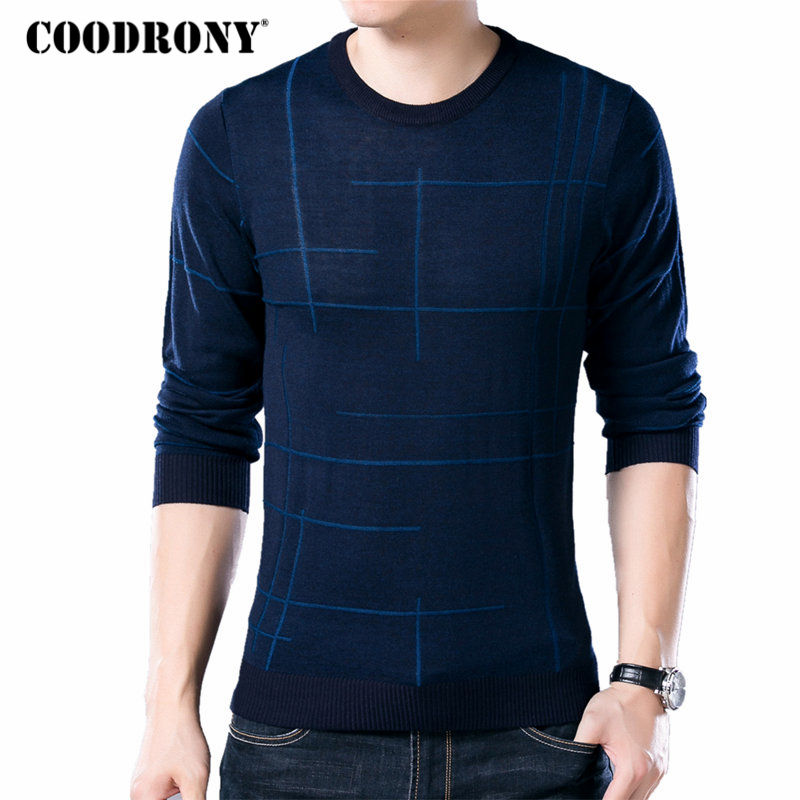 COODRONY Soft Cashmere Sweaters O-Neck Wool Pullovers 2020 Autumn Winter Warm Sweater Men Brand Clothing Plus Size Pull Homme