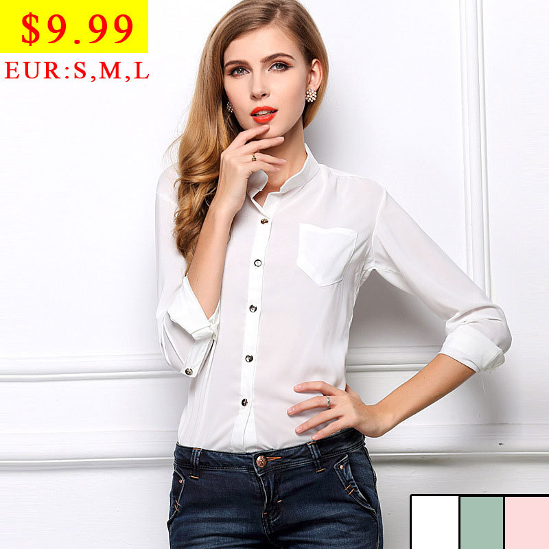 White Transparent Sheer Blouse 2014 Big Size Women Clothes Chiffon ...