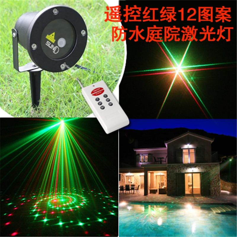 Koop 12in1 waterdichte laser landschap verlichting voor outdoor kerst xmas party - Outdoor laser light show ...