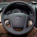 Mão-costurado Preto Cobertura de Volante de Couro para Kia Sportage 2 2005-2010 2009 Sportage