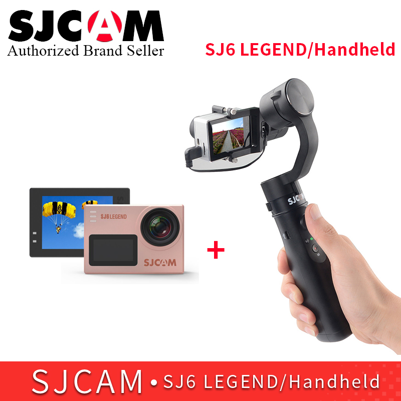 SJCAM 3 axis Handheld Stabilizer gimbal monopod for SJ6 SERIES SJ7 star match with SJCAM SJ6 LEGEND 4K wifi remote action camera домашний кинотеатр lg sj6