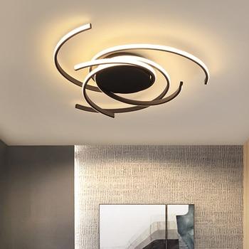 Neo gleam matter 블랙 이상적인 표면 장착 현대 led 샹들리에 거실 침실 알루미늄 화이트 AC85-265V 샹 들리