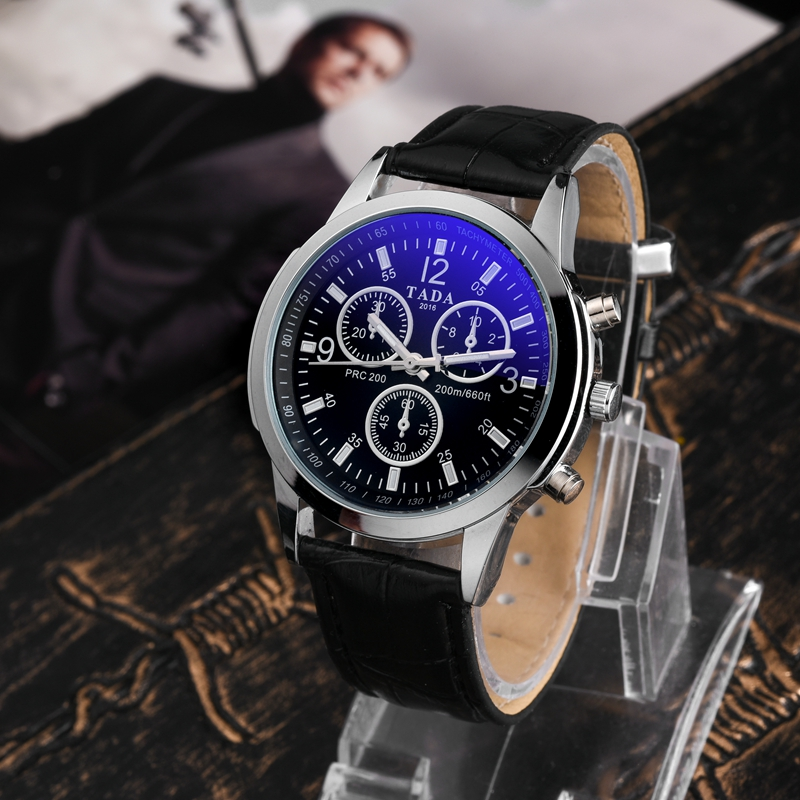 Genuine leather Strap New Arrival TADA Brand Watches 2016 Men Miltary Army Quartz Watches Fashion Blue Glass face  Watches tada brand luxury high quality 3atm waterproof japan quartz movement watches relojs lady fashion genuine leather watches
