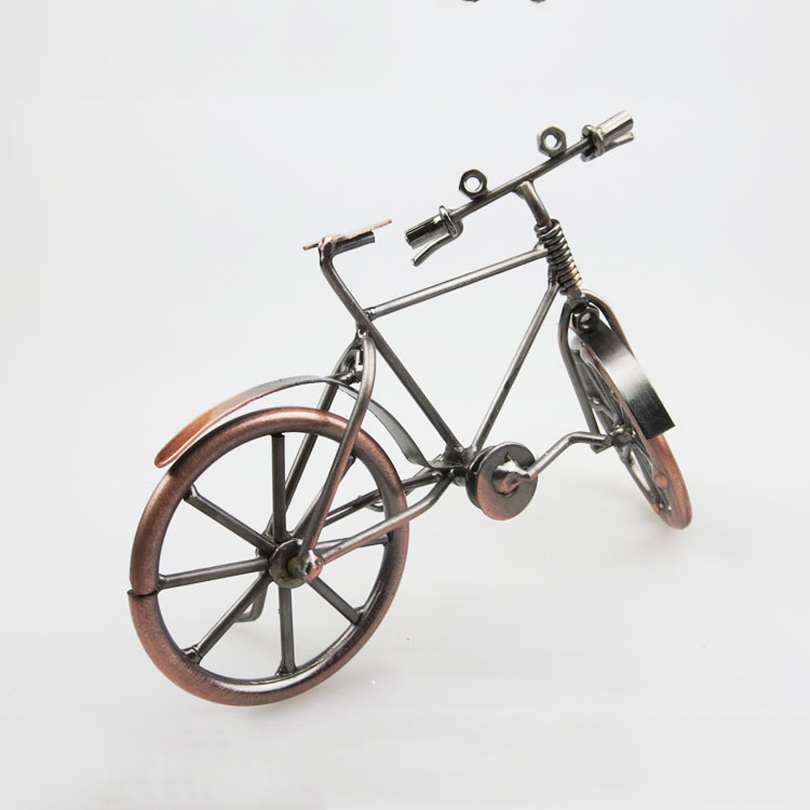 Bronzer bicycle model Fathers Day creative gifts Metal crafts antique wrought iron bicycle model Home decorative Decoration