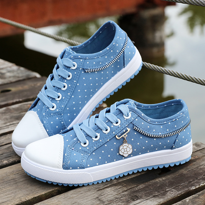 Summer Girls Breathable Women Casual Sneakers 2019 Women's Casual Shoes Flat Denim Womens Casual Shoes