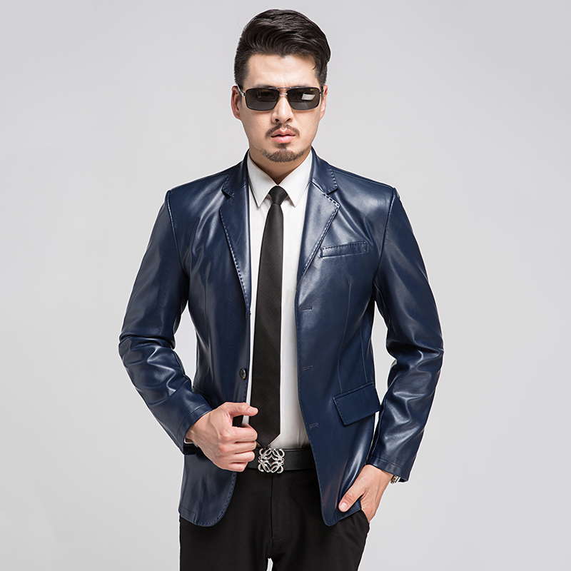 Men Leather Suit Jacket Promotion-Shop for Promotional Men Leather ...