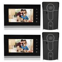 7inch TFT Touch Key LCD Screen Color Video Door Phone Doorbell Intercom System Phone V70K RFID