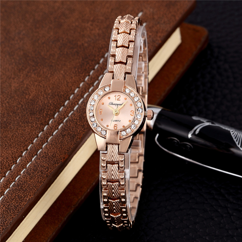 Fashion Small Rose Gold Bracelet Women Watches Luxury Stainl