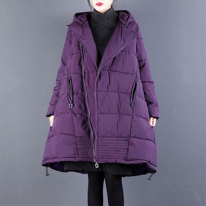 2018 Korean Loose Plus Size Winter Women's Jacket Long-sleeved Female Jacket Hooded Zipper Winter Coat Women Chaqueta Mujer 19