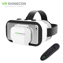 Vr shinecon 5.0 110fov google картон vr гарнитура 3d очки виртуальной реальности шлем 42 мм объектив для 4.7-6′ телефон