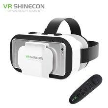 Vr shinecon 5.0 110fov google картон vr гарнитура 3d очки виртуальной реальности шлем vrbox 42 мм объектив для 4.7-6′ телефон
