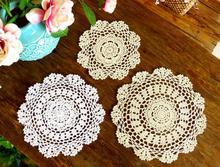 DIY lace cotton table place mat cloth pad crochet cup Spoon dish coaster trivet placemat HOT doily mug pot holder dining kitchen