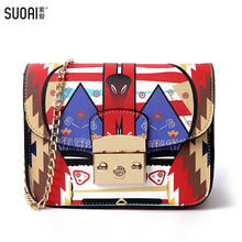 Women Shoulder Bag 2017 Fashion New Lock Messenger Bags Famous Brand Summer Style Small Flag Colorful Female Chain Bag стоимость