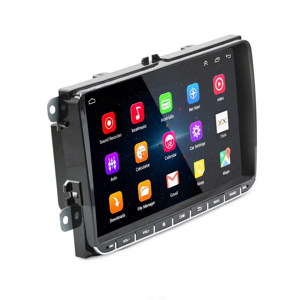 2din Android Radio GPS Multimedia for VW Polo Skoda Superb Rapid seat leon CC Caddy Vento EOS Amarok volkswagen Golf 4 5 6