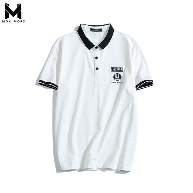 5ef0f8815 2018 Summer New Style Men s Casual Fashion Brand Polo Shirt English Letter  Pattern Embroidery Lapel Short