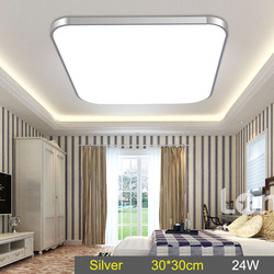 30x30cm LED Ceiling Down Light Lamp 24W Square Energy Saving For Bedroom Living Room --M25