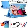 Для Samsung Galaxy Tab A 10.1 с Мультфильм серии Tablet Мягкая PU Кожаный Чехол Чехол Для Samsung Galaxy Tab A 10.1 T580 T585 + подарок
