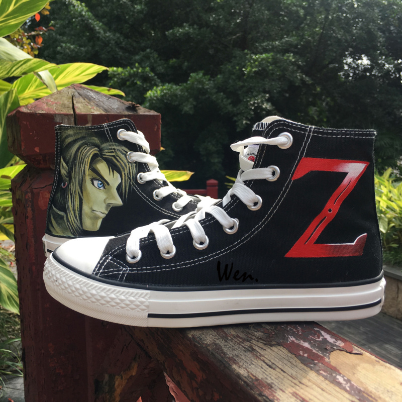 Wen Hand Painted Canvas Sneakers Link Z Legend of Zelda