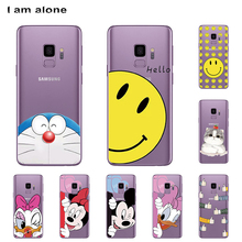 I am alone Phone Shell For Samsung Galaxy S9 G960 5.8 inch Solf TPU Cellphone Fashion Cute Case For Samsung Galaxy S9 G960 куртка onttno g960 2014
