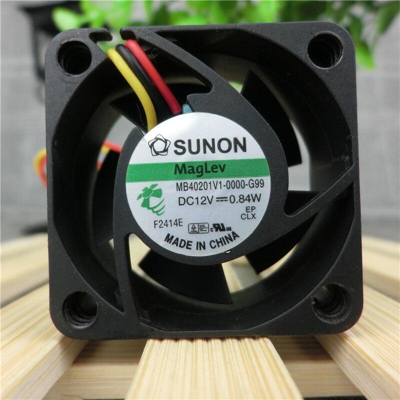 Original SUNON MB40201V1-0000-G99 DC 12V 0.84W 3-wire power supply cooling fan