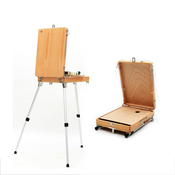 Portable Wooden Easel Aluminum Foot Caballete Pintura Easel Art Student Sketch Caballete Pintura Easel Art Supplies for Artist