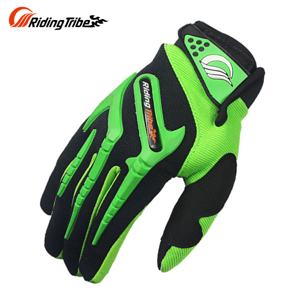 Motorcycle gloves discount - Riding Tribe Motorcycle Gloves Green Motocross Cycling Dirt Bike Full Finger Sports Gloves Summer Motocross Gloves