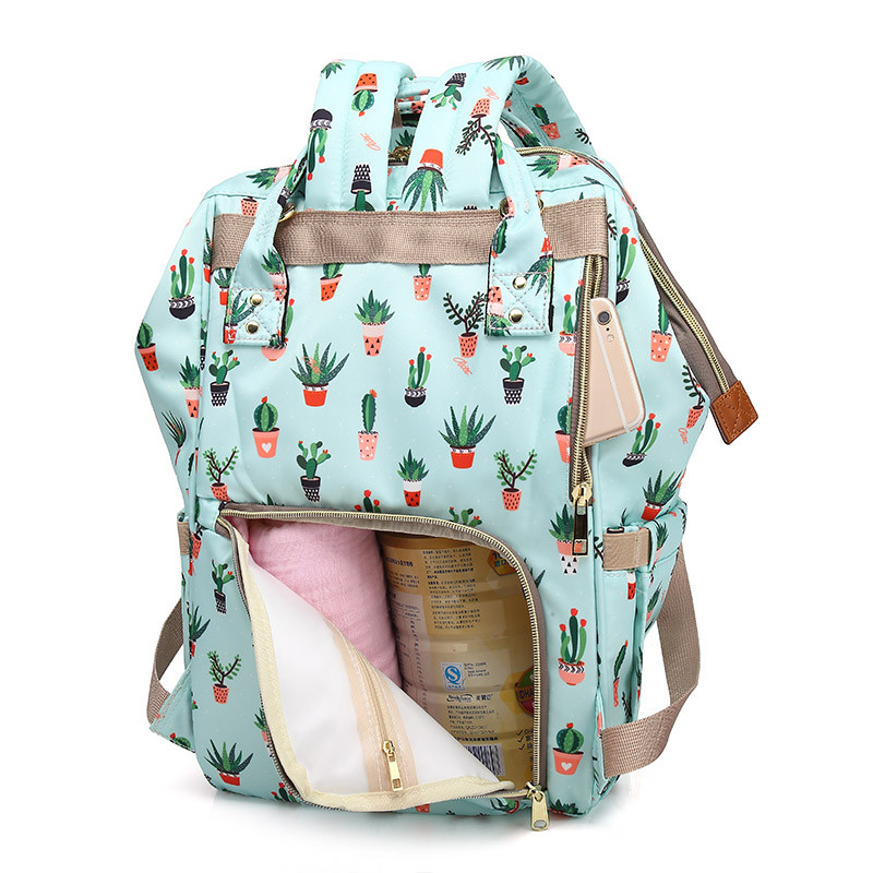 Cactus-Mummy-Maternity-Diaper-Mother-Nappy-Bagpack-Large-Baby-Nursing-Bag-Women-Backpack-Stroller-Bag-Baby(4)