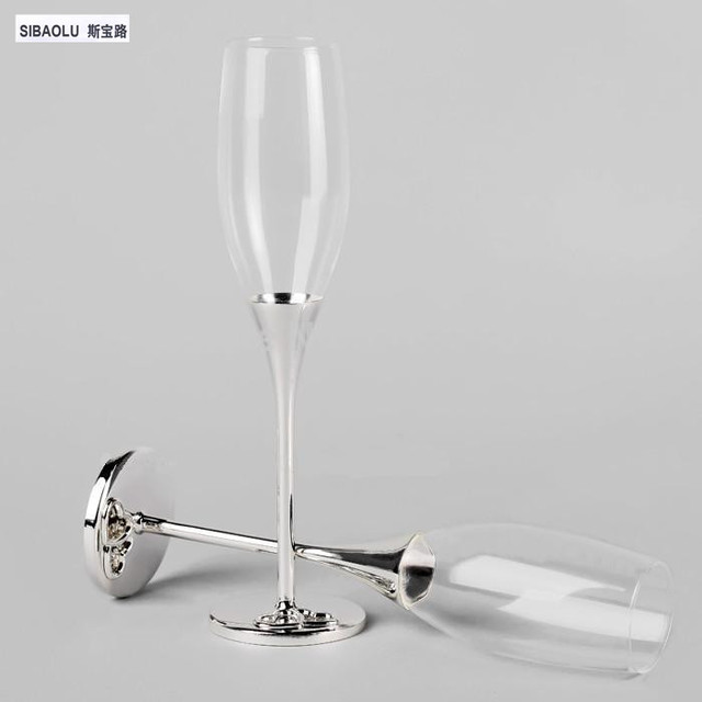Wedding Champagne Gles Wine Sets Crystal Flutes Toasting Decorations