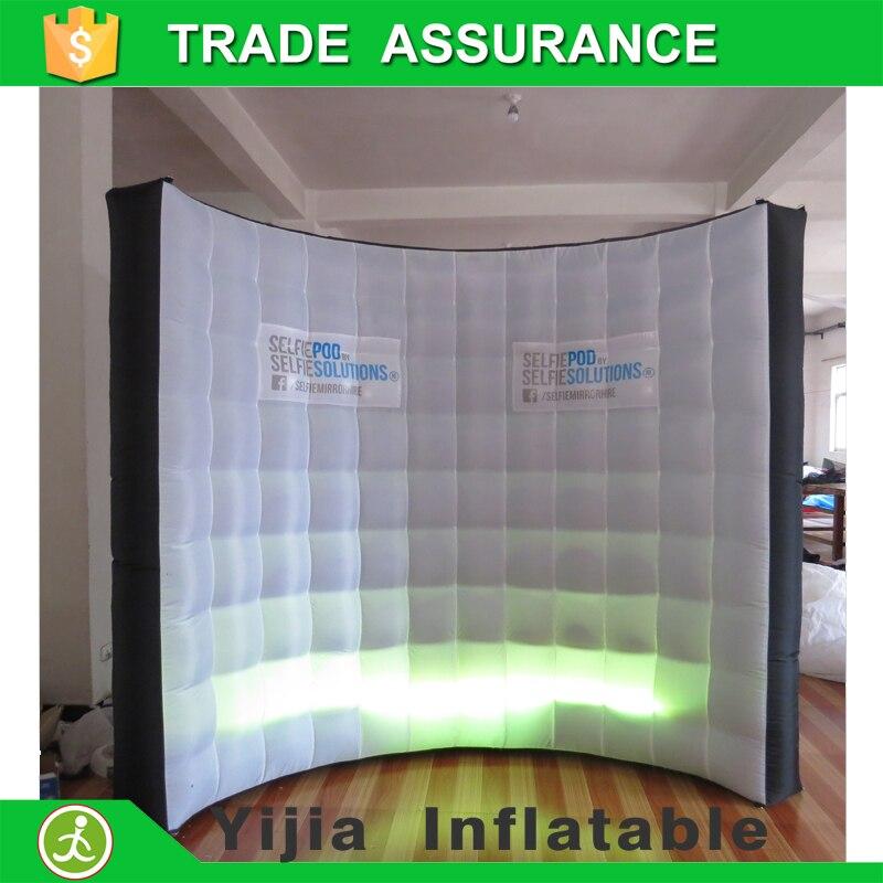 Livraison gratuite DJ stade décoration Haute qualité éclairage photo booth toile de fond Led gonflable mur