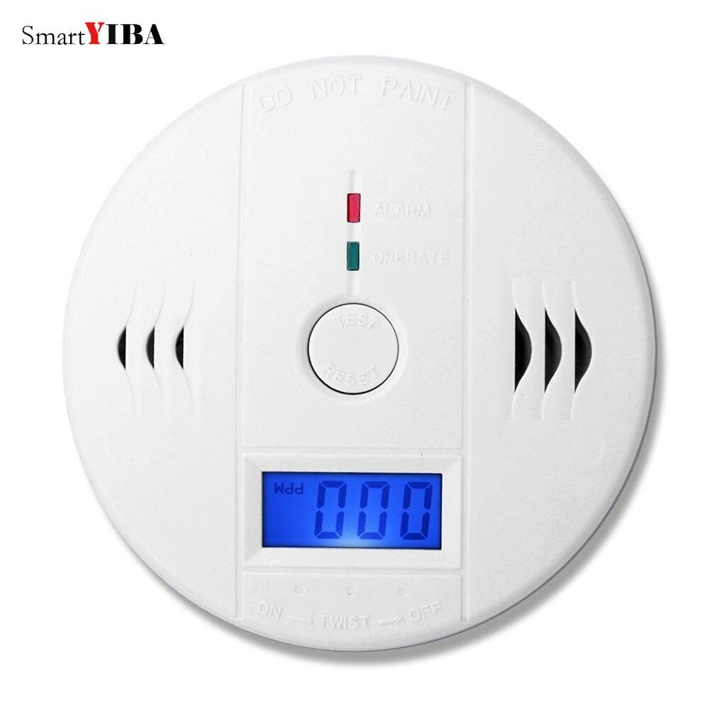 SmartYIBA Ad Alta Sensibilità Indipendente LCD CO Monossido Di Carbonio Rilevatori Sensore Fotoelettrico CO Allarme Per La Casa Protezione