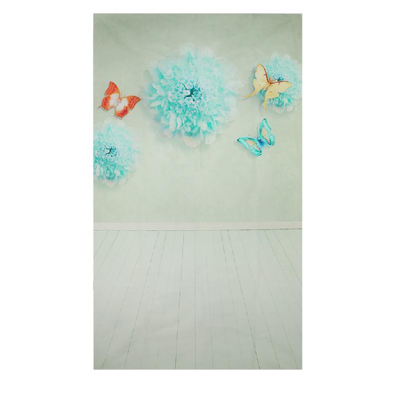 Photography Prop Butterfly Flower Studio Photo Background 3x5FT Vinyl Backdrop