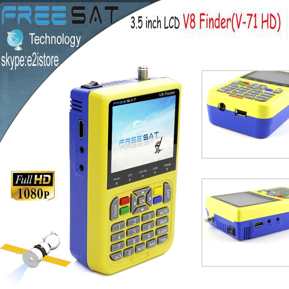 Portable 3.5 inch Freesat v8 Finder LCD SatFinder DVB-S2 Satellite Finder MPEG-4 Satellite Dish LNB Channel Finder Tool freesat v8 finder dvb s2 digital finder 3 5 inch lcd mpeg 2 mpeg4 compliant digital satfinder vs satellite finder satlink ws6906