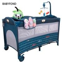 Кроватки для Близнецы младенцев Детские спальные мешки Подушка детские кровати многие страны Бесплатная доставка! Свет Детская кровать в Е
