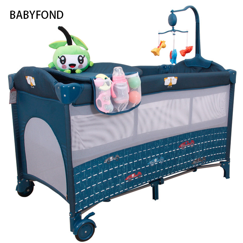 Cribs For Twins Babies Kids Sleeping Bags Pillow Baby Beds Many Country Free Delivery ! Light Baby Bed Europe Folding Send Toys
