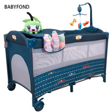 Cribs For Twins Babies Kids Sleeping Bags Pillow Baby Beds Many Country Free Delivery ! Light Baby Bed Europe Folding Send Toys(China)